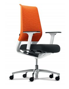 Dauphin X-Code Office Chair in Orange, Black, and Green