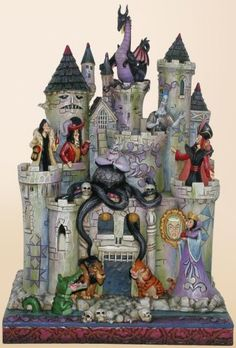 Disney Villians - if you know me, you know where other girls collected princess stuff or animal stuff, I collected villians! I want this cake for myself!