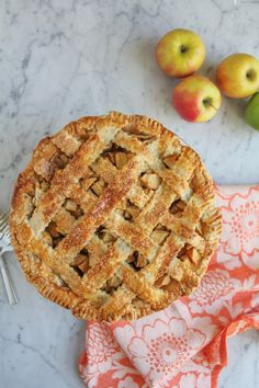 Lattice Top Apple Pie pretty enough to eat. Best Apple Recipes, Fall Recipes, Sweet Recipes, Favorite Recipes, Just Desserts, Delicious Desserts, Dessert Recipes, Yummy Food, Apple Desserts