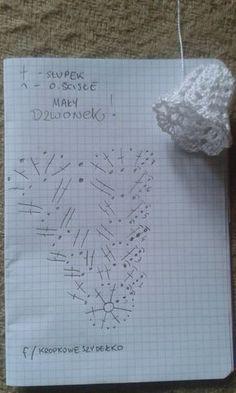Pokračovanie skúšobných zvončekov amatérsky popis - Her Crochet Crochet Snowflake Pattern, Crochet Flower Tutorial, Crochet Motifs, Crochet Snowflakes, Crochet Flower Patterns, Crochet Doilies, Crochet Flowers, Crochet Christmas Decorations, Crochet Decoration