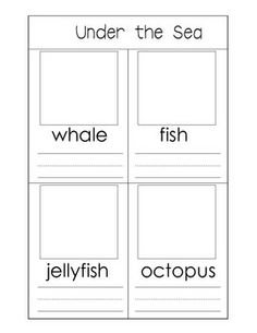 UNDER THE SEA ACTIVITIES - TeachersPayTeachers.com FREE