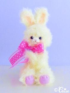 Cerise bunny plush doll