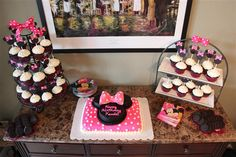 This blog, The Suburban Mom, has great ideas for Minnie Mouse Birthday Decorations!
