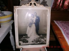 Fab Vintage Floral Rose Urn Gesso Wedding Picture by thebedpost02, $75.00