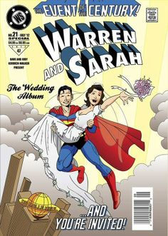 Her Superhero....Wedding Invitation!!