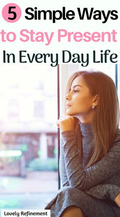 Staying in the present moment sounds hard but it doesn't have to be! Here are 5 simple ways to stay present in every day life so you can feel calmer, less anxious, happier and more at peace in all aspects of your life. Embrace the present moment now! Anxiety Tips, Stress And Anxiety, Anxiety Relief, Stress Relief, Feeling Stressed, How Are You Feeling, How To Control Emotions, Mental Health, Health Facts