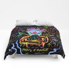 Detroit Clowns In Paris  Comforters