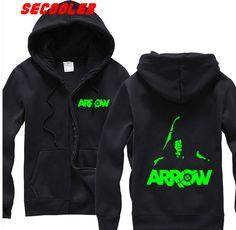 Arrow TV Show   Arrow TV Show Green Arrow DC Comics CW Costume Licensed Zip Up Hoodie ...