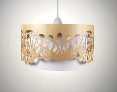 Lampshade made of wood with cut-outs / Handmade  Ask a Question $382.5