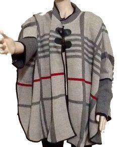 Elegant Damen Poncho Damen Pullover Strickponcho Kuscheliger Cape Überwurf M-XXL