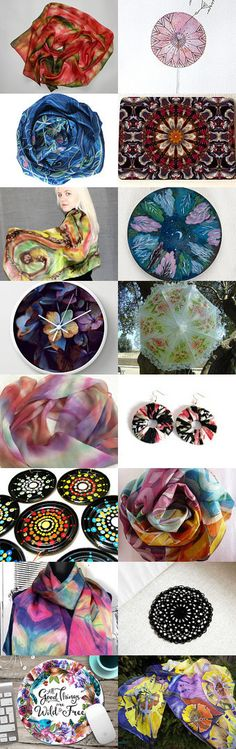 Kaleidoskopic by Sirje on Etsy--Pinned+with+TreasuryPin.com