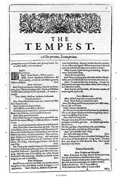 Page from The Norton Facsimile of the First Folio of Shakespeare