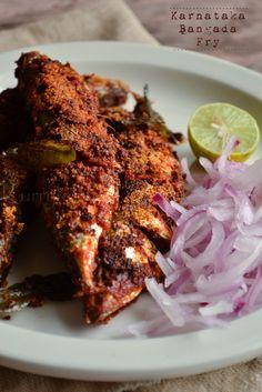Karnataka style Mackerel fry - my fav recipes - Mackerel Indian Fish Recipes, Fried Fish Recipes, Veg Recipes, Curry Recipes, Seafood Recipes, Asian Recipes, Cooking Recipes, Healthy Recipes, Recipies