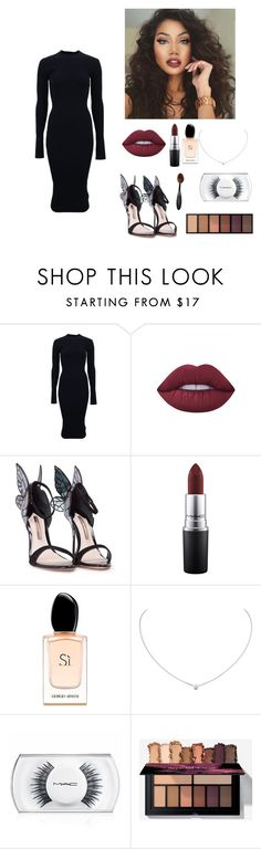 """""""now youll kiss me.."""" by seniora ❤ liked on Polyvore featuring Victoria Beckham, Lime Crime, Sophia Webster, MAC Cosmetics, Giorgio Armani and Cartier"""