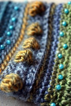 Tips and Techniques - beading added to crochet fabric