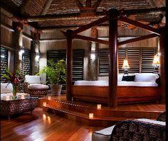 Romantic bedroom / Lalati Resort and Spa in Fiji