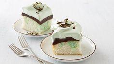 Grasshopper Fudge Cake