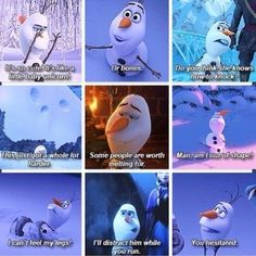 favorite olaf moments.. movies like this seriously just bring out the kid in me... lol