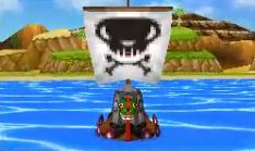 Bateau Pirate vue de face