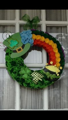 St. Patrick's Day Wreath I made in 2013.