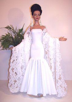 Elegant Wedding/ Gown Dress Barbie Bridal, Barbie Wedding Dress, Barbie Gowns, Doll Clothes Barbie, Doll Clothes Patterns, Bridal Dresses, Wedding Gowns, Barbie Doll, Crochet Barbie Patterns