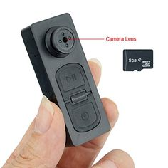 ba7122d4fda59 TEKMAGIC 8GB Pocket Hidden Camera Clothes Button Mini DV Camcorder Video  Recorder with Voice Recording