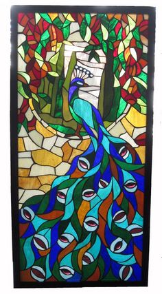 In with the Old Dinner and Antiques Auction - Stained Glass Peacock