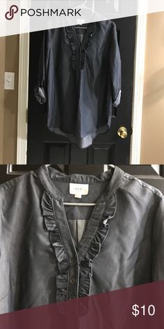 Jean blouse Jean blouse only worn once. eci new york Tops Blouses