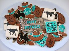 OMG! More shadowy ponies and cowboys/cowgirls, and lookit the cookies with the brands! I miss the old west.