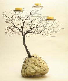 Wire Trees-this looks like the trees on the oregon coast