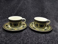 END OF THE MONTH CLEARANCE SALE! TWO Mikasa Intaglio Arabella CAC01 Cups Saucers - EXCELLENT! #Mikasa
