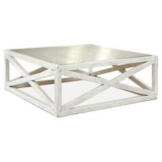 Check out this item at One Kings Lane! Manning Square Coffee Table, White