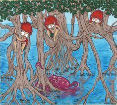 Yokai painting by Matt Meyer --