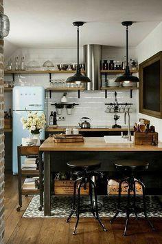 #cucina #kitchen Apartment Interior Design, Kitchen Interior, New Kitchen, Kitchen Dining, Kitchen Small, Kitchen Ideas, Kitchen Cabinets, Kitchen Backsplash, Kitchen Designs