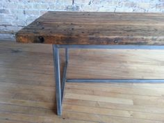 Vintage Industrial Maple Work Table Top by StateStreetSalvage