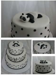 Black and White Panda Cake
