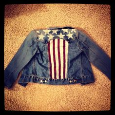 Custom Painted Jean Jacket by Jarebearboutique on Etsy, $30.00