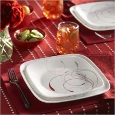 Add a taste of the tropics to your hot #dinner party with our #Splendor Collection.  Part of the #Corelle Squares line, Splendor features a modern square shape accented with a simple, elegant design