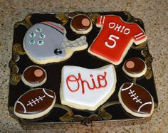 Hey, I found this really awesome Etsy listing at https://www.etsy.com/listing/174880753/ohio-state-football-game-day-cookies