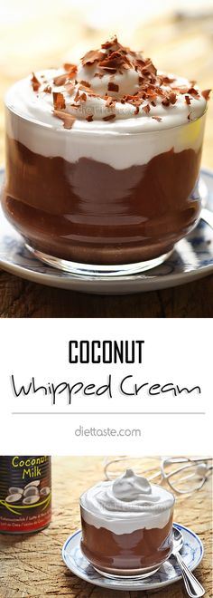 Coconut Whipped Cream - non-dairy, no sugar vegan substitute for whipped cream