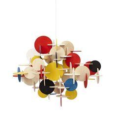 Bau is a sculptural hanging lamp designed by Vibeke Fonnesberg Schmidt, who has combined colour, composition and geometric shapes in a unique and creative design. Bau is a hanging lamp with attitude. Schmidt, Geometric Lamp, Geometric Shapes, Hanging Lamp Design, 3d Puzzel, Diy Luminaire, Wooden Chandelier, Chandelier Lamp, Cardboard Sculpture