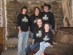The Hoffmeyer's sporting their personalized Hunting Camp tees. http://www.inkpixi.com/items/hunting-camp/black/design