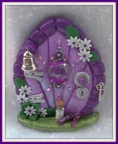 FD204 Fairy Door Herculite by CharmedFairyDoors on Etsy