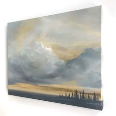 Angel Wings Painting, Watercolor Clouds, Feuille D'or, Mulberry Street, Landscape Paintings, Oil Paintings, Gold Leaf, Modern Art, Sky