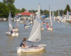 Traffic jam Vermilion style or maybe it is the sailing school students.  Photo by Scott Dommin
