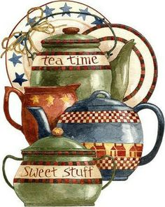 I varieté Reed for Decoupage: For tea . Vintage Diy, Vintage Labels, Tee Kunst, Foto Transfer, Bulletins, Pintura Country, Country Paintings, Country Art, Country Style
