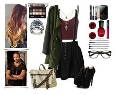 Originals: Meeting Marcel by heartkingdomknight on Polyvore featuring polyvore, fashion, style, Glamorous, Chicwish, Something Else, Boohoo, Mossimo Supply Co., Carolyn Pollack/Relios, Martine Wester, By Terry, esum, Lancôme, NARS Cosmetics, Deborah Lippmann and clothing