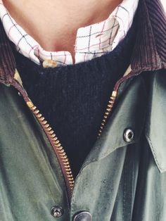 détail manteau Barbour