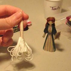 How to make a full skirt toothpick doll