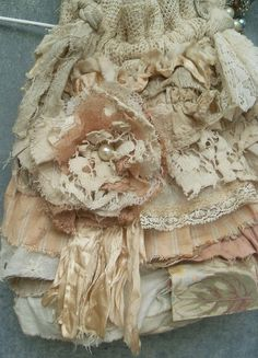 Tattered Lace Ruffles Purse Upcycled Vintage Textiles Boho Grunge Embellishment by Resurrection Rags, via Flickr
